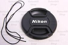 62mm Professional Nikon Center Pinch Snap-On Lens Front Cap for D4 D800 D300S