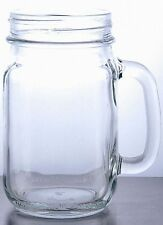 Rustic Bridal Wedding Clear Mason Jars with Handles 3.33 Dozen Lot of 40 jars