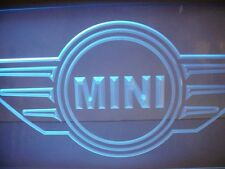SUPER COOL BMW MINI COOPER STORE GLASS LIGHTED DISPLAY FLUORESCENT PURPLE