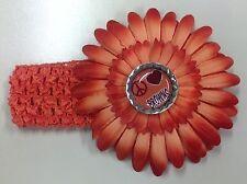 NWOT Cleveland Browns Orange Bottle Cap Daisy Flower Hair Bow CHOICE OF DESIGN