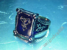 Final Fantasy X 10 FF10 Amber Marcasite Ring