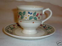 """Mikasa Provincial China Cup & Saucer """"Strawberry Hill"""" Item CV951-Made in Japan"""