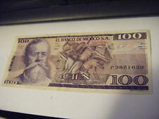 3 Sept 1981 Cien Pesos $100 El Banco De Mexico S.A P33936787 Circulated  SERIETX
