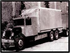 Kenworth Trucks New Metal Sign: KW Box Truck with Trailer