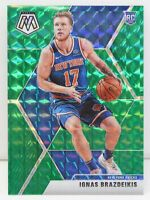 Ignas Brazdeikis RC 2019-20 GREEN MOSAIC PRIZM New York Knicks Rookie Card #242