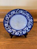 "Vintage Dedham Pottery 7 1/2"" Rabbit Plate Crackle Glaze Blue Rabbit Good Cond."