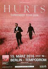 HURTS 2016 BERLIN - orig.Concert Poster - Konzert Plakat  NEU