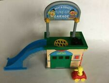 Sesame Street Bert & Ernie Tune Up Garage Play Set WITH SOUNDS and Big Bird Car