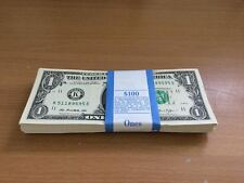 100 Pack of 2013 Consecutive $1 Unc Paper Currency Money Notes Dallas (K)