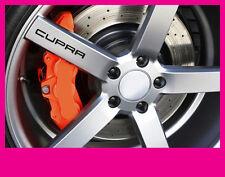 SEAT Leon Cupra nuevo logotipo Adhesivos calcomanías de la rueda de aleación gráficos x5 En Vinilo Negro