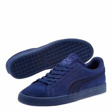 New Puma Mens Classic Suede Badge All Dark Blue Lace Up Sneaker Shoes Size 7.5