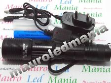 Torcia Ricaricabile Led USB Tattica/militare Led CREE T6 RICARICABILE BL-U12 -T6