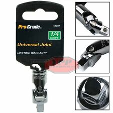"1/4"" Drive Universal Joint Socket Set Swivel Flex Joint Adapter Wobble U Joint"