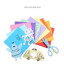 120 Pages Kids Paper Cutting Scissoring Skills Practice Book +Safe Scissors Kit