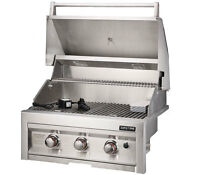 SUNSTONE 28 INCH 3 BURNER BUILT IN GRILL WITH LIGHTS #SUN3B-NG