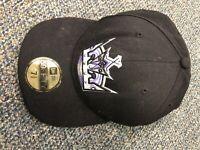 New Era 59Fifty Cap Men's NHL Los Angeles Kings Black Purple Fitted Hat 7 3/8