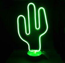 pub bar bistro déco lumière CACTUS LAMPE FLUO style LED 37cm haut décorative