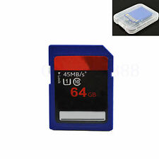64G 64GB Class 10 SD SDXC Card Digital Flash Memory Card For Camera DSLR 45MB/s