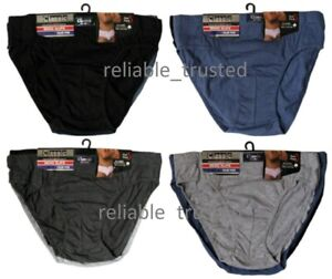 3/6 /12 Mens Executive Classic Cotton Plain Hipster / Brief in Big Sizes S - 6XL