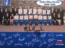 COACH MIKE KRZYZEWSKI DUKE BLUE DEVILS SIGNED AUTOGRAPHED 8.5X11 HOF #3