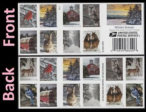 US 5532-5541 5541b Winter Scenes forever booklet (20 stamps) MNH 2020