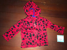 disney mickey mouse 6/9 months infant red jacket hoodie new