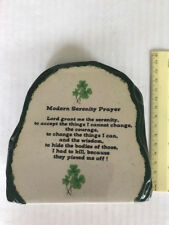 Ceramic IRISH Tombstone Modern Serenity Prayer