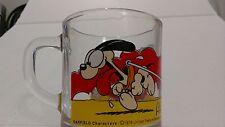 1978 Garfield Glass Coffee Mug Cup Promo McDonald's Collectible Promo Mug Yellow