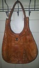Custom Vintage Leather Shoulder Purse Patch Work Mosaic 14 X 12