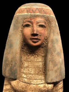 BEAUTIFUL ANCIENT EGYPTIAN WOODEN STATUE 300 BC (9) LARGE !!!
