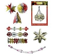 Christmas Foil Garland Hanging Ceiling Tree Wall Decorations Party Festive Hang