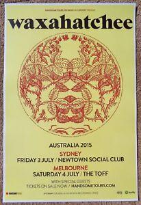 WAXAHATCHEE 2015 Tour POSTER Australia Katie Crutchfield Gig Concert