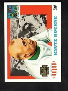 2001 Topps Archives #91 KNUTE ROCKNE (1955 Topps All American #16 Reprint Card)