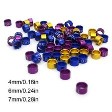 50 Pcs Mix Color Bird Foot Ring Bands Clip on Leg Rings for Pigeon Dove Chicks