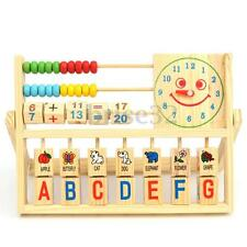 Children Baby Kids Learning Math Developmental Versatile Flap Abacus Wooden Toys