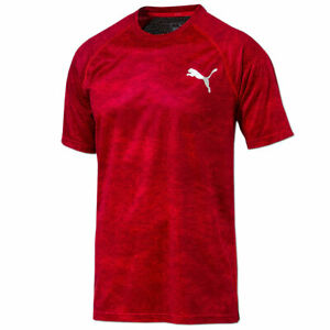 PUMA Herren Vent Graphic Shirt Dry-Cell Sportshirt Fitness Laufshirt Gr.S rot