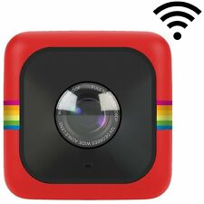 Polaroid Cube+ 1440p Mini Lifestyle Action Camera with Wi-Fi & IS - Red