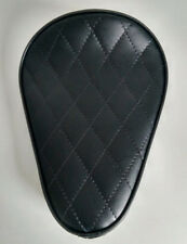 Custom Solo Seat Black Diamond to fit Harley Bobber Chopper Yamaha