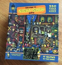 Downtown Kitty by Hideki Yoshioka Glow in the Dark 550 Piece Puzzle