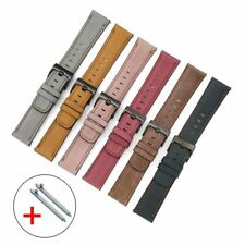 20mm 22mm Oil Wax Genuine Leather Band for Samsung Galaxy Watch 3 41 45 46 42mm