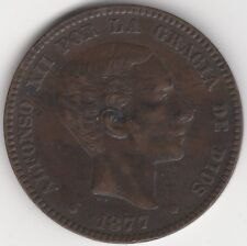 More details for 1877 spain alfonso xii 10 centimos | european coins | pennies2pounds