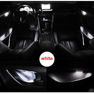 White Car Door Bowl Handle LED Ambient Atmosphere Light Interior Universal 12V