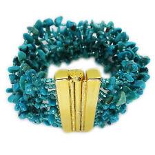 Jose & Maria Barrera Multi-Strand Turquoise Bracelet, Gold Plate Clasp