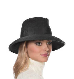 Authentic NWT Eric Javits Designer NYC Women's Hat - Wool Kim in Charcoal