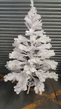 Approx 6ft Tall White Artificial Christmas Tree (No Box/Instructions) - Tree #1