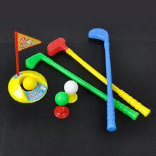 NEW Kids Outdoor Summer Garden Small Plastic Caddy Golf Toy Set 3 Clubs+3 Balls
