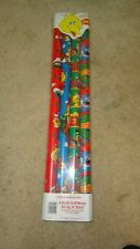 Vintage Sesame Street Pbs Christmas Wrapping Paper 4 Rolls 50 Square Feet