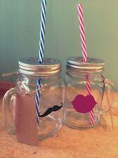 X2 Mr & Mrs Mason Glasses Moustache And Lips Wedding Gift