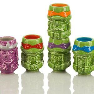 TMNT - Geeki Tikis Mini Mug Teenage Mutant Ninja Turtles Complete Shot Glass Set