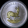 2018 South Africa Krugerrand Premium 1 oz Pure Silver Coin With 24k Gold Plate